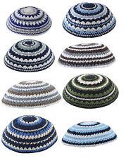 Knitted Set of 8 Yamaka Kipot Shabbat Yarmulke Kippah Jewish Cheap LOT 8 ISRAEL