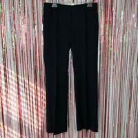J Crew Black Super 120s wool Pinstripe City Fit Trouser Pants Mid Rise Work - 6