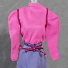 Barbie 1970s Clothes Dress w/ Belt Nylon Hot Pink Purple Tagged Genuine
