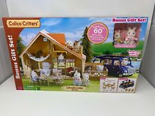 Calico Critters Lakeside Lodge *GIFT SET* Family Van 2 Critters NEW