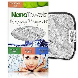Nano Towels Makeup Remover Chemical Free, Fabulous Skin, Cleaner Pores 7x16, New