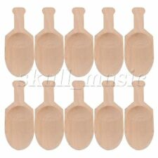 10x 3Inch Mini Beech Wooden Scoops Spoon Sugar Salt Flour Coffee Tool