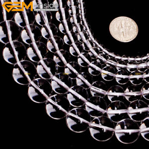 """Natural AAA Grade Round White Clear Crystal Rock Quartz Jewelry Making Beads 15"""""""