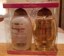 OGX Champagne fizz hydration LIMITED EDITION hair shampoo conditioner 385ml set
