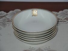 6  HutschenReuther Bavaria Selb  China Dishes Bowls Monogram B Hand Painted
