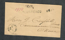 Canada Stampless Cover Port Hope 1865 Registered To Ottowa