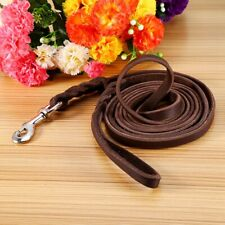 2.6m Long Pet Dogs Leather Training Lead Strong Leash Large Recall Line Walking