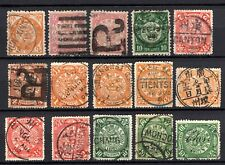 China selection of 15x coiling dragon stamps used with nice clear cancels
