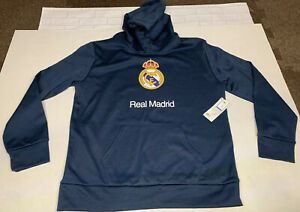 REAL MADRID 100% Polyester Hoodie Sweatshirt Youth Boy's Size XL NWT