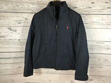 Polo Ralph Lauren Men's Navy Hooded Winter Jacket Coat Windbreaker Sz Medium NWT