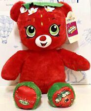 New Build A Bear Shopkins Strawberry Kiss Plush Teddy Doll Stuffed Animal Red NW