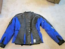 Teknic Hydro Guard Black BLUE Women's Motorcycle Jacket SZ 10 3M SCOTCHLITE REFL