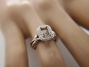 14k White Rose Gold Round Diamond 1/4 CT Ring Mounting