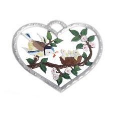 Pewter Pendant, Heart with Bird Nest 6 x 7 cm - Wilhelm Schweizer