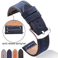 Cowhide Watchbands 18 20 22 24mm Vintage Men Genuine Leather Watch Band Strap