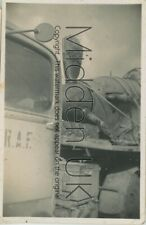 RB762 WW2 PHOTOGRAPH RAF Lorry carrying Spitfire Aeroplane (presumed shot-down)
