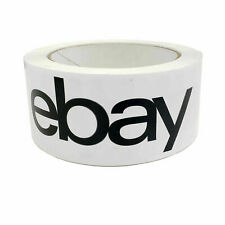 "2 Rolls Black Official Ebay Shipping  Packing Tape 75' x 2"" FREE SHIPPING"