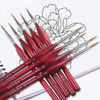 6Pcs Number Brushes Extra Fine Detail Paint Brushes Artist Miniature Model Ma YK