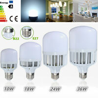 E27/B22 Bayonet 10/18/24/36W 5730 LED Globe Bulb Light SMD Lamp Cool White 220V