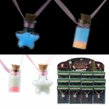 GLOW IN THE DARK FAIRY DUST BOTTLE NECKLACE GIRLS BIRTHDAY GIFT PARTY BAG FILLER