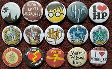 Harry Potter Button Badges x 15 (Set 1). Pins. Wholesale. Collector. Bargain :0)