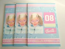 BARBIE SCHOOL X3 NOTEBOOK FOR EXERCISE  PINK GIRL 2008 40 SHEETS 80 PAGES