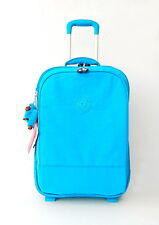 NWT Kipling Yubin 55 Suitcase With Furry Monkey Turquoise Blue