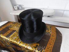 Vintage  Extra Quality Black Silk Top Hat size 7 1/8  by A J White Ltd