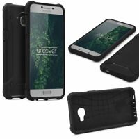 Samsung Galaxy C5 OUTDOOR Schutz Hülle TOP Cover Back Case Carbon Optik Etui
