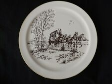 """Lenox Rare Special Collectors Plate Stage Coach Theme 12.5"""" Usa"""