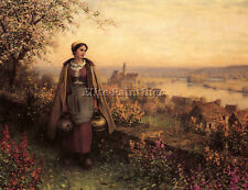 KNIGHT DANIEL RIDGWAY SPRINGTIME ARTIST PAINTING OIL CANVAS REPRO WALL ART DECO