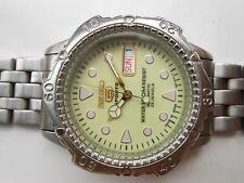 Vintage Illume Dial See Through Seiko 5 Sports 100M WR Mens Automatic WristWatch