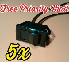 NEW 5x Momentary ON OFF SPST Rocker switch Off-(on) 2 wire FREE Priority ship 5