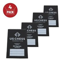 US Chess Federation Commemorative Spiral Chess Score Book - BLACK - (120 Moves/G
