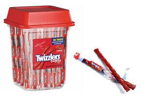 USA Imported Twizzlers Twists Sticks Gummy Candy Sweets, Strawberry 5 10 50 Pcs