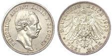3 MARK 1909 E SAXONY GERMANIA GERMAN STATES KM1267 ARGENTO SILVER #782