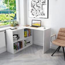 Eckschreibtisch Winkelkombination Schreibtisch Arbeitstisch Büro Computer Weiß