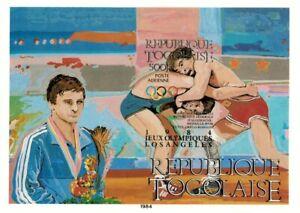 Togo 1984 Scott# C507 - Olympics Wrestling, Sport - Imperf Souvenir Sheet - MNH