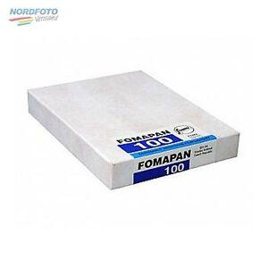 FOMA Fomapan 100 Schwarzweißfilm, 4x5inch / 10,2x12,7cm, 50 Blatt