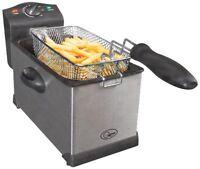Quest Professional 3L 3 Litre Stainless Steel Deep Fat Chip Fryer Kitchen Large