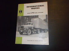 1952 IHC International Trucks with LPG Fuel System Sales Brochure  ~ Original ~