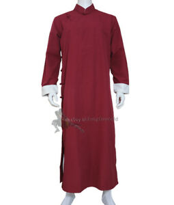 Wing Chun IP Man Robe Tai chi Uniform Wushu Kung fu Suit Cotton Cheongsam