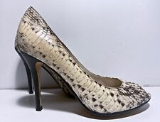 5a378619ea1d Michael Kors Sadie Python Leather Peep-toe Pumps Size 6 Natural 4