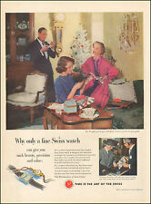 1951 Vintage ad for Swiss Federation of Watch Manufacturers Christmas   (120216)