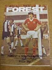 22/03/1980 Nottingham Forest v Southampton  (Light Crease, Folded)