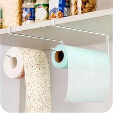Toilet Paper Towel Holder Kitchen Roll Rack Under Cabinet Storage Organization