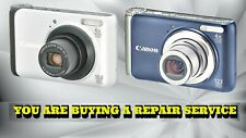CANON A3000 IS OR A3100 IS DIGITAL CAMERA REPAIR SERVICE WITH A 60 DAY WARRANTY