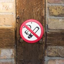 Signo de Hierro Fundido,N º Smoking Letrero, Hierro Fundido
