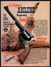 1979 ABILENE .44 Magnum Revolver Give-away US Arms AD ADVERTISING