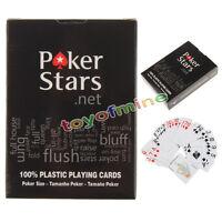 Alta qualità carte 100% plastica nuova Poker Dimensioni gioco 1 Set eccellenti